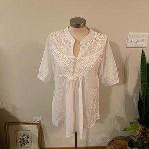 no brand Tops - White lace blouse